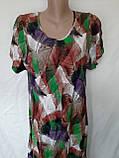 Летнее штапельное платье. Платье с коротким рукавом из натуральной ткани 1286, фото 5