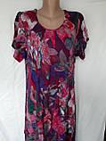 Летнее штапельное платье. Платье с коротким рукавом из натуральной ткани 1286, фото 6