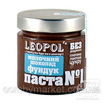 """Фундукова паста Шоколад молочний """"Leopol"""" 200g"""