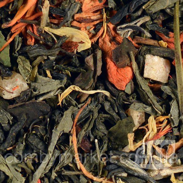 Зелений ароматизований чай Мірабель 50g