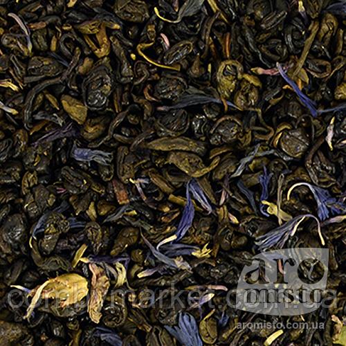 Зелений ароматизований чай Ерл Грін (блакитна квітка) 50g
