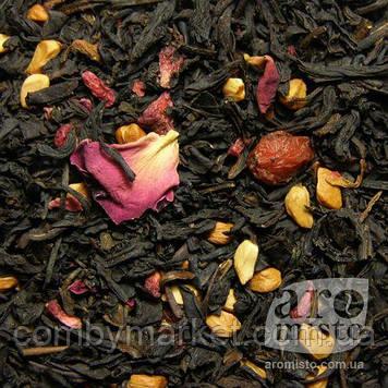 Чорний ароматизований чай Малиновий 50g