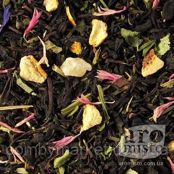 Чорний ароматизований чай Чебрець-меліса 50g