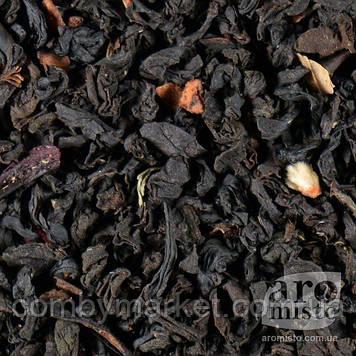 Чорний ароматизований чай Суниця лісова 50g