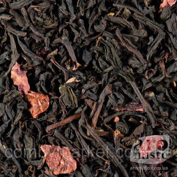 Чорний ароматизований чай Чорний з журавлиною 50g