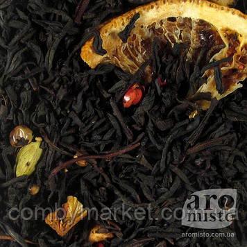 Чорний ароматизований чай Святкове печиво 50g