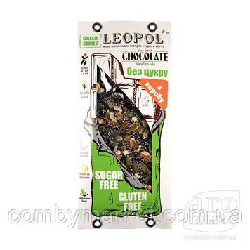 """Шоколад чорний """"Leopol"""" кероб чіа (без цукру) 95g"""