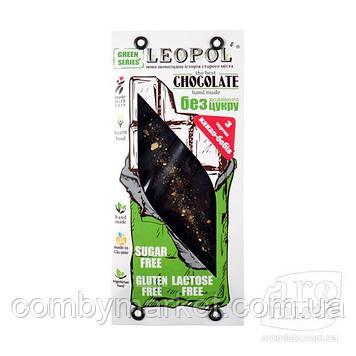 """Шоколад чорний """"Leopol"""" чорний без цукру 75g"""