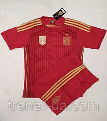 Футбольная форма взрослая сборная Испания бордовая