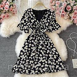Женское летнее платье с принтом