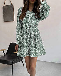 Женское летнее платье с длинными рукавами