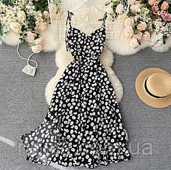 Женское летнее платье в цветочный принт