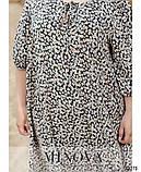 Платье трапециевидного силуэта с цветочным принтом большого размера: 46-48, 50-52, 54-56, 58-60, фото 2