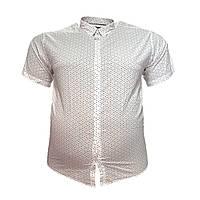 Мужская рубашка с коротким рукавом Barcotti 16086 2XL 3XL 4XL 5XL 6XL белая большие размеры батал Турция, фото 1