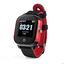 Дитячі смарт-годинник Lemfo DF50 Ellipse Aqua з GPS трекером (Чорно-червоний)
