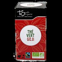 Чай зеленый с ягодами годжи неферментированый в пакетиках органический Touch Organic,43,2г (24*1.8г)