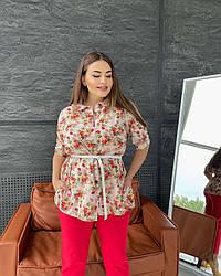 Блуза Тифани розочки