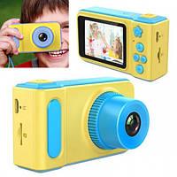 Детский цифровой фотоаппарат Summer Vacation Smart Kids Cam, детская фото камера игрушка для мальчика, Синий