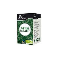 Чай зеленый Эрл Грей с ароматом бергамота неферментированый в пакетиках Touch Organic,43,2г (24*1.8г)