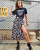Стильная женская юбка миди  с разрезом ( много цветов), фото 6