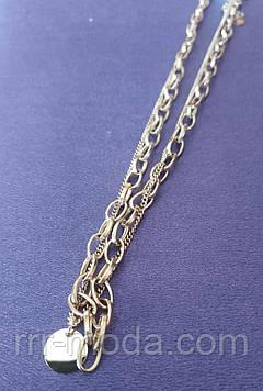 Эксклюзивная позолоченная цепь. Недорогая позолоченная бижутерия оптом 41 Золотистый