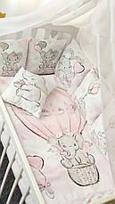 """Набор постельного белья детскую кроватку/ манеж """"Слоник"""" - Бортики в кроватку / Защита в детскую кроватку, фото 2"""