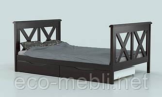 Ліжко підліткове з натурального дерева Монік (бук) Луна
