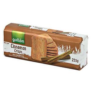 Печенье GULLON Cinnamon crisps, хрустящее печенье с корицей, 235 г