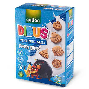 Печенье GULLON DIBUS Angry Birds, mini cereale, 250 г
