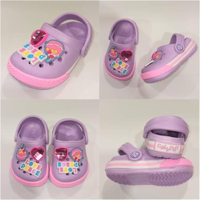 Детские сабо на девочку, фиолетовые Calypso фото