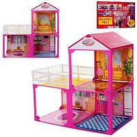 Игровой набор для девочек Большой двухэтажный домик для кукол барби Детский домик для кукол Домик кукольный