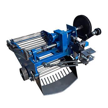 Картофелекопатель вибрационный транспортерный (со смещением прицепного) под мототрактор с гидравликой (Скаут)