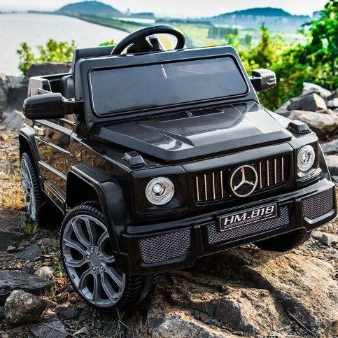 Детский электромобиль Mercedes G55 style, цвет черный