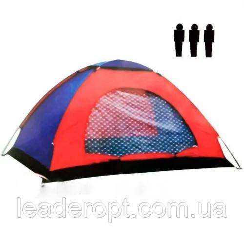 ОПТ Автоматическая трехместная палатка 200*150*135 однослойная в чехле