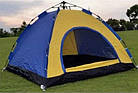 ОПТ Автоматическая трехместная палатка 200*150*135 однослойная в чехле, фото 3