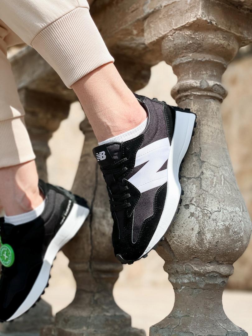 New Balance жіночі літні, чорні кросівки на шнурках. Літні жіночі текстильні кроси.