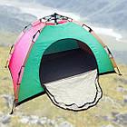 ОПТ Автоматическая трехместная палатка 200*150*135 однослойная в чехле, фото 4