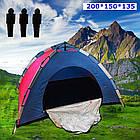 ОПТ Автоматическая трехместная палатка 200*150*135 однослойная в чехле, фото 5