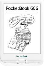 "Электронная книга PocketBook 606 White (PB606-D-CIS); 6"" (1024х758) E-Ink Carta, с подсветкой, ОЗУ 256 МБ, 8"