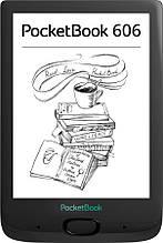 "Электронная книга PocketBook 606 Black (PB606-E-CIS); 6"" (1024х758) E-Ink Carta, 212 dpi, ОЗУ 256 МБ, 8 ГБ"