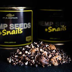 Семена конопли Hemp Seeds+Snails (с улитками) 500мл Carpio
