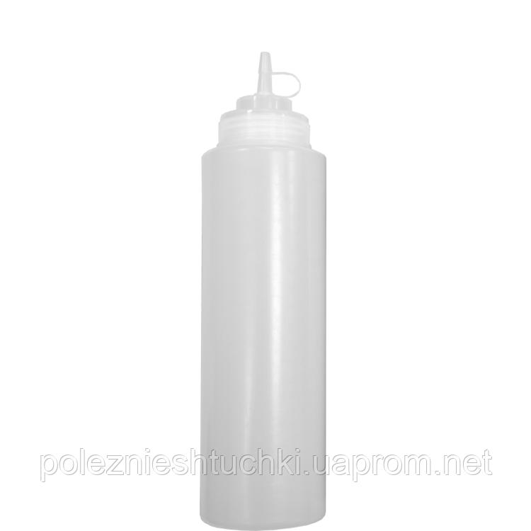 Бутылка для соусов с мерной шкалой 360 мл. прозрачная