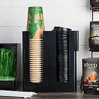 Диспенсер для бумажных стаканов и крышек 2 ячейки 23х11х24 см пластиковый (соединяется с 302014), фото 1