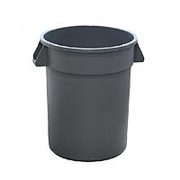 Мусорный бак с ручками 120 л. пластиковый, серый коммерческий для отходов