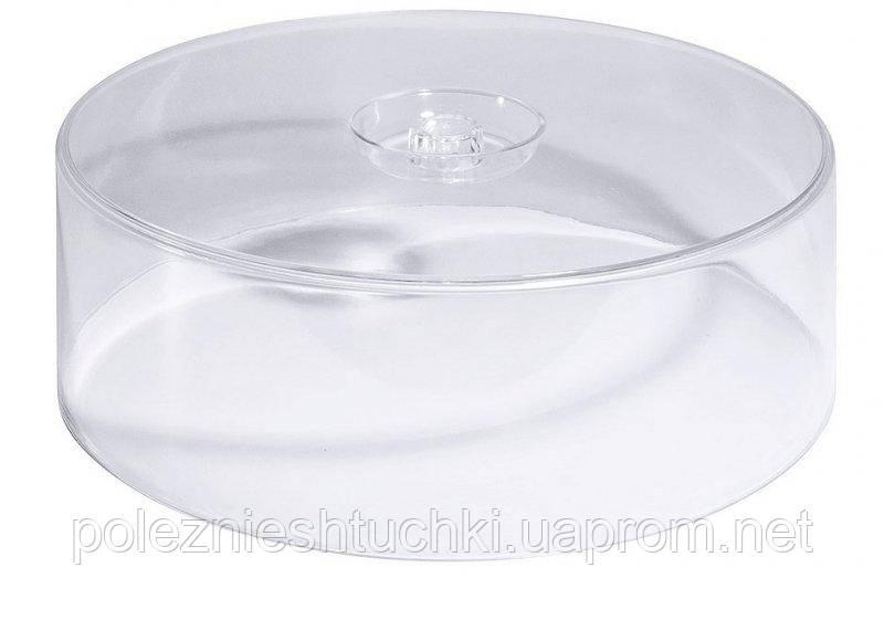 Кришка-ковпак для торта акрил 30,5х30,5х11 див. прозора пластикова