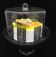 Подставка для торта с крышкой акрил 24х24х28 см