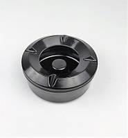 Попільничка вітрозахисна з кришкою One Chef з меламіну 10.5х4.5 см, чорна