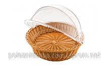Корзина для хлеба 40х10 см. круглая, коричневая FoREST Без крышки (крышка 529003)