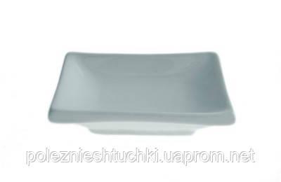 Соусник для соевого соуса 50 мл. фарфоровый, белый, прямоугольный Fudo, FoREST