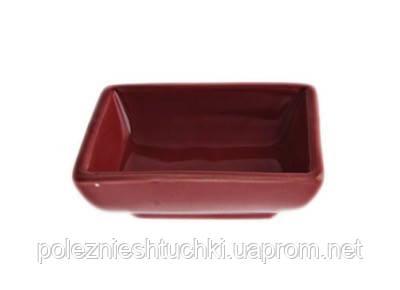 Соусник для соєвого соусу 40 мл. фарфоровий, червоний прямокутний Fudo, FoREST